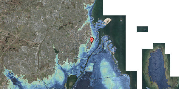 Stomflod og havvand på Gothersgade 135B, 1123 København K