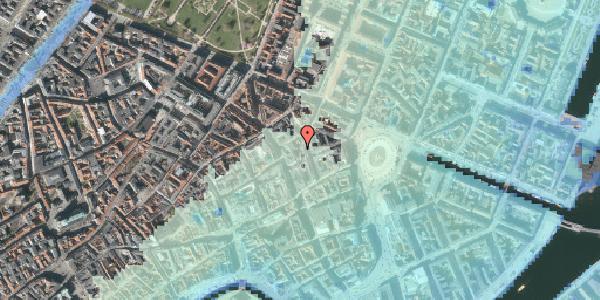 Stomflod og havvand på Pistolstræde 8, 1102 København K