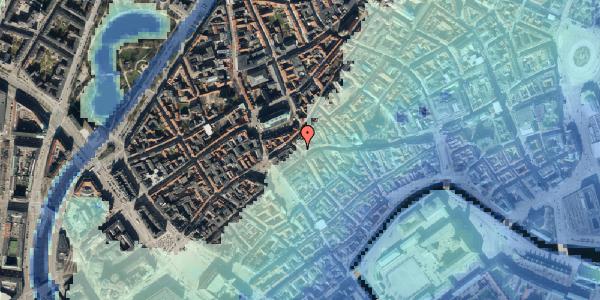Stomflod og havvand på Skoubogade 2, 1158 København K