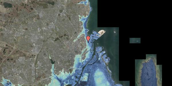 Stomflod og havvand på Viborggade 14A, 2100 København Ø