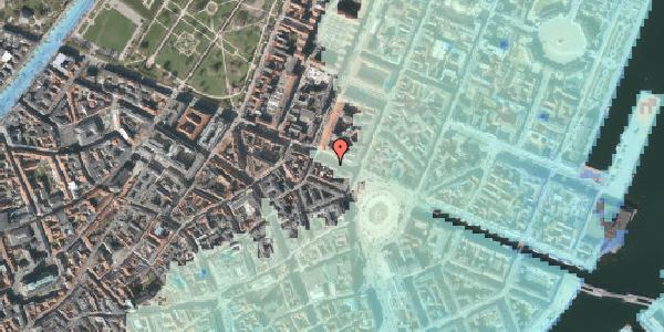 Stomflod og havvand på Gothersgade 11, 1123 København K