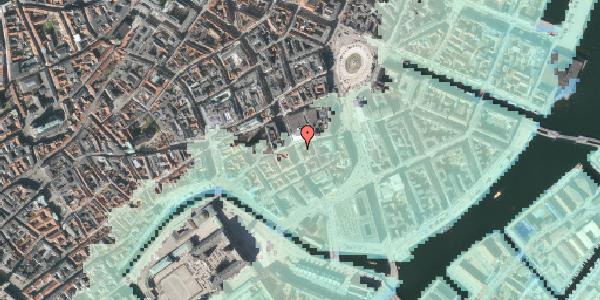 Stomflod og havvand på Vingårdstræde 13, 1070 København K