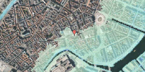 Stomflod og havvand på Nikolaj Plads 18, 1067 København K