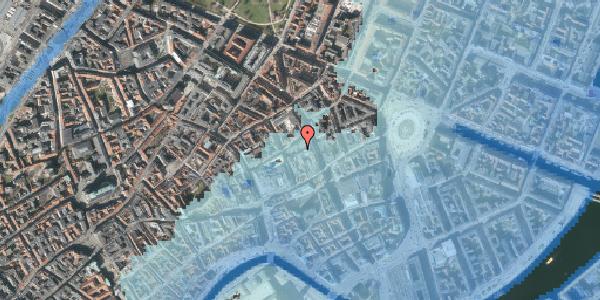 Stomflod og havvand på Pilestræde 14, 1112 København K