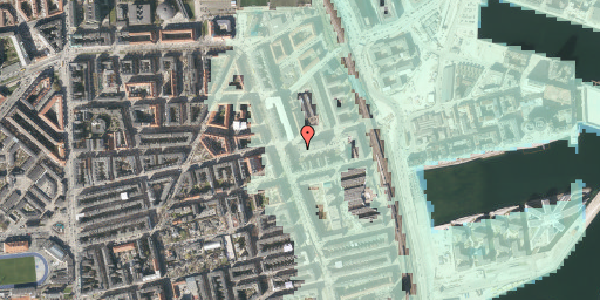 Stomflod og havvand på Århusgade 102, 1. , 2100 København Ø