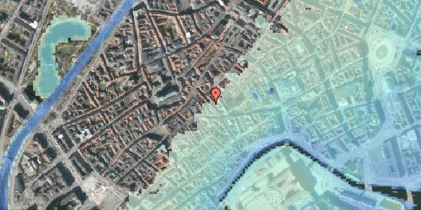 Stomflod og havvand på Klosterstræde 9, 1157 København K