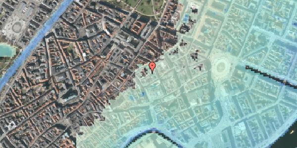 Stomflod og havvand på Købmagergade 26C, 1. th, 1150 København K