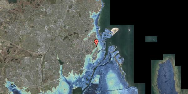 Stomflod og havvand på Frederik V's Vej 10, 2100 København Ø