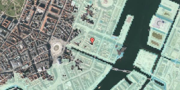Stomflod og havvand på Nyhavn 31E, 5. tv, 1051 København K