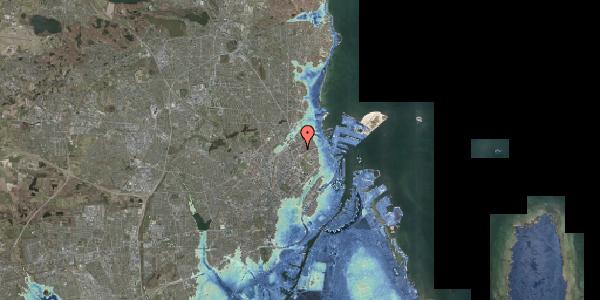 Stomflod og havvand på Lyngbyvej 28, 1. tv, 2100 København Ø