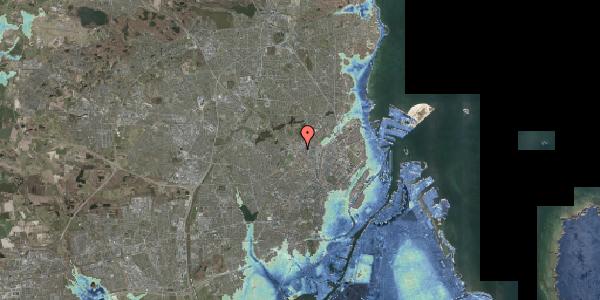 Stomflod og havvand på Frederikssundsvej 84C, 2400 København NV