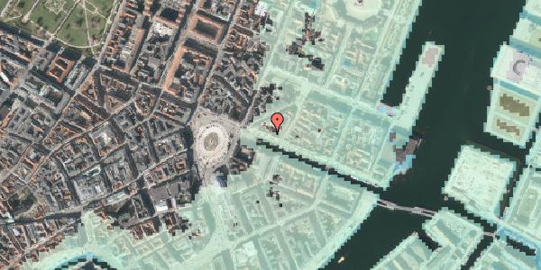 Stomflod og havvand på Nyhavn 11, 1051 København K