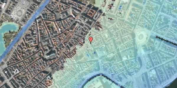 Stomflod og havvand på Købmagergade 29B, 1150 København K
