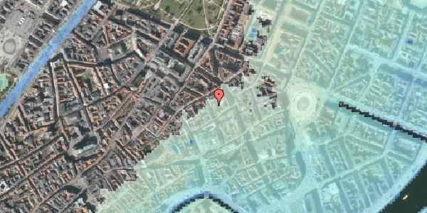 Stomflod og havvand på Pilestræde 30B, 1112 København K