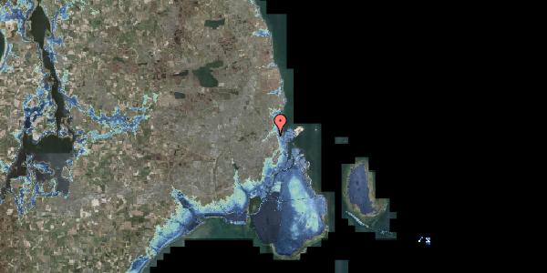 Stomflod og havvand på Vognmandsmarken 91, 2100 København Ø