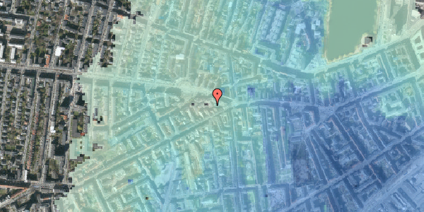 Stomflod og havvand på Vesterbrogade 90C, 1620 København V