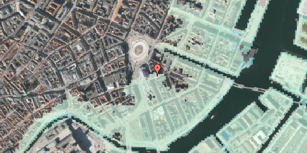 Stomflod og havvand på August Bournonvilles Passage 5, 1055 København K