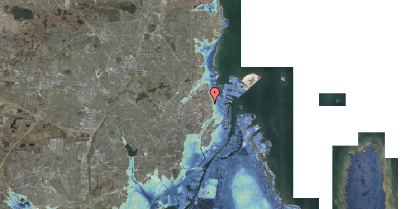 Stomflod og havvand på Østerfælled Torv 33, 2100 København Ø
