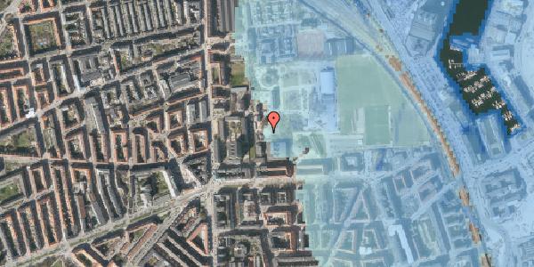 Stomflod og havvand på Sionsgade 5, 2100 København Ø