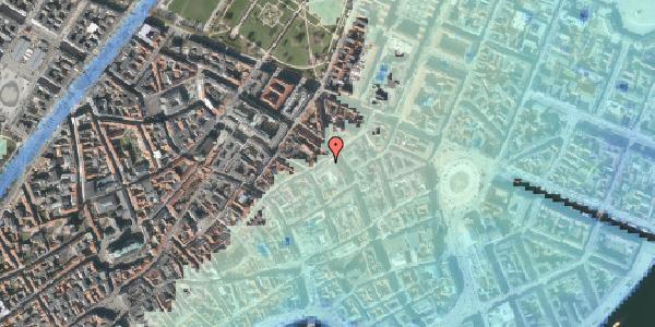 Stomflod og havvand på Sværtegade 10, 1118 København K