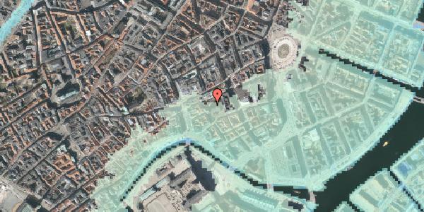 Stomflod og havvand på Nikolaj Plads 10, 1067 København K