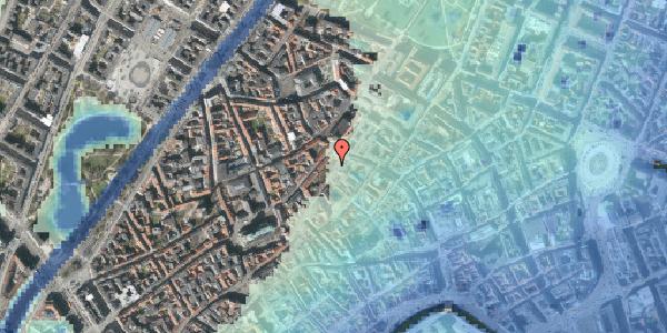 Stomflod og havvand på Skindergade 8, kl. tv, 1159 København K