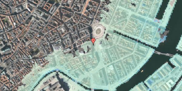 Stomflod og havvand på Kongens Nytorv 15, 1050 København K