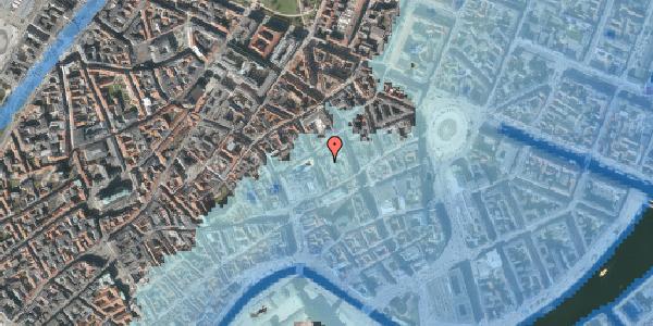 Stomflod og havvand på Pilestræde 10, 1112 København K
