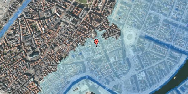 Stomflod og havvand på Pilestræde 8C, 1112 København K
