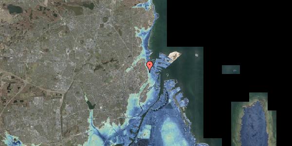 Stomflod og havvand på Østerfælled Torv 20, 2100 København Ø