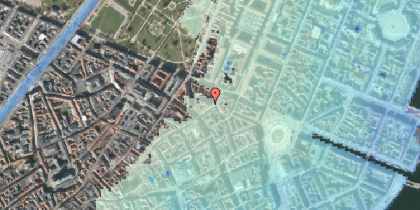 Stomflod og havvand på Ny Østergade 19, 1. , 1101 København K
