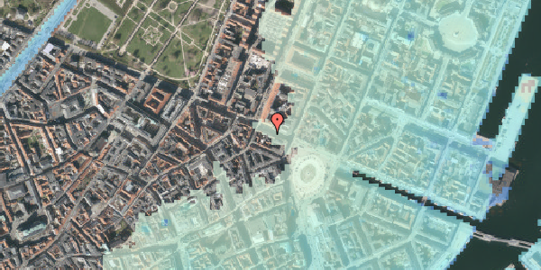 Stomflod og havvand på Gothersgade 11, 3. tv, 1123 København K