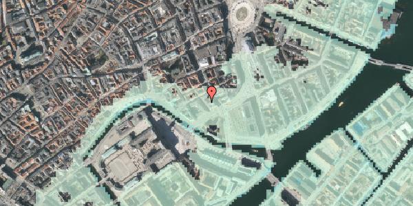 Stomflod og havvand på Nikolajgade 25, 1068 København K