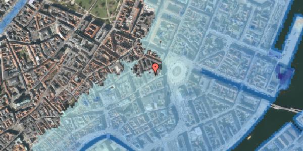 Stomflod og havvand på Østergade 16B, 3. th, 1100 København K