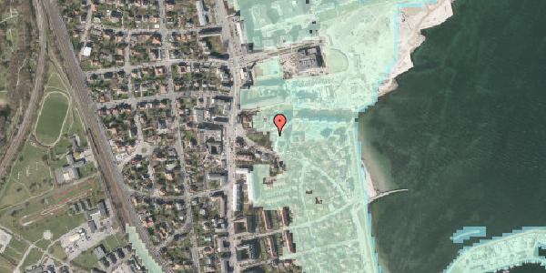 Stomflod og havvand på Scherfigsvej 4, 2100 København Ø