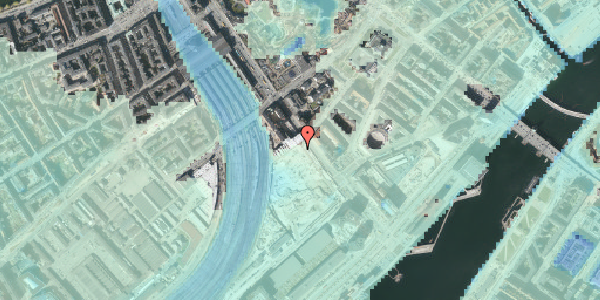 Stomflod og havvand på Bernstorffsgade 34, 1577 København V
