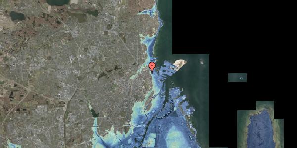 Stomflod og havvand på Nygårdsvej 30B, 2100 København Ø