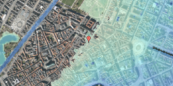 Stomflod og havvand på Klareboderne 3B, st. , 1115 København K