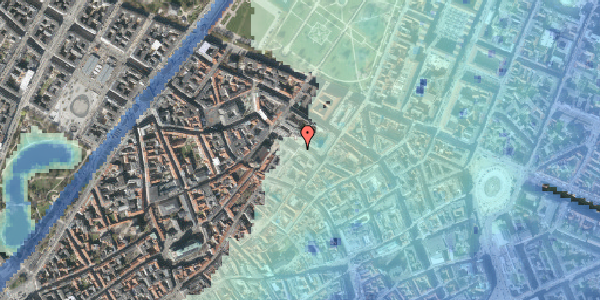 Stomflod og havvand på Pilestræde 61, 1. , 1112 København K