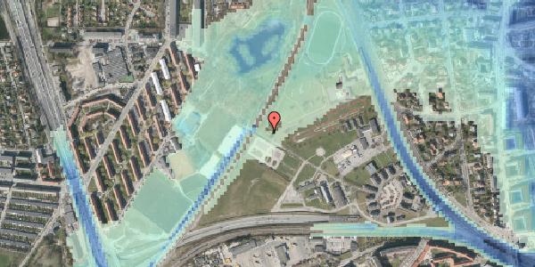 Stomflod og havvand på Svanemøllens Kaserne 58, 2100 København Ø