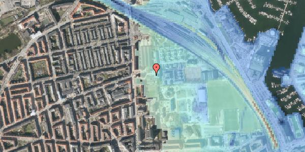 Stomflod og havvand på Carl Nielsens Allé 10, 2100 København Ø