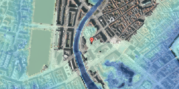 Stomflod og havvand på Axeltorv 6, 2. tv, 1609 København V