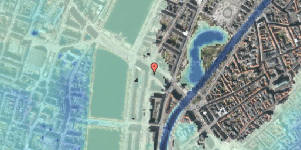 Stomflod og havvand på Nyropsgade 1, 1602 København V