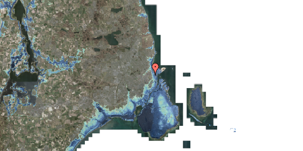 Stomflod og havvand på Marskensgade 5B, 2100 København Ø