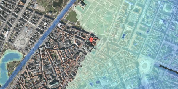 Stomflod og havvand på Vognmagergade 9, 4. tv, 1120 København K