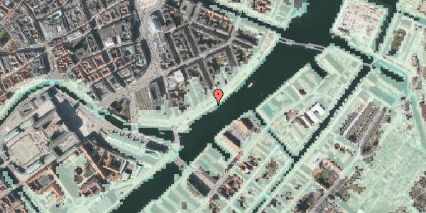 Stomflod og havvand på Havnegade 30, 1058 København K