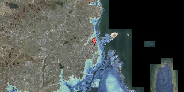 Stomflod og havvand på Jagtvej 180, 2100 København Ø