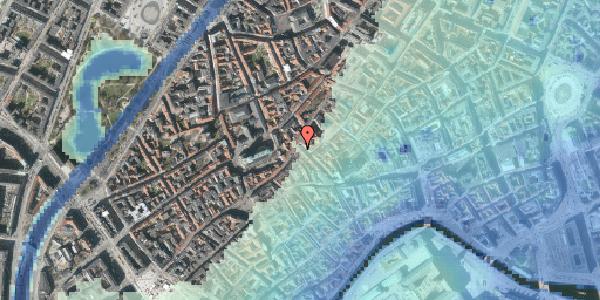 Stomflod og havvand på Klosterstræde 25, 3. , 1157 København K