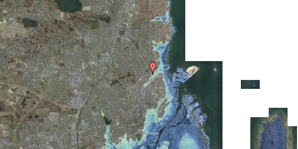 Stomflod og havvand på Emdrupvej 26B, 2100 København Ø