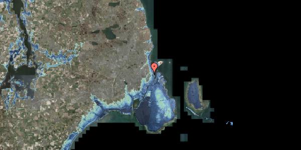 Stomflod og havvand på Hjalmar Brantings Plads 10, 2100 København Ø